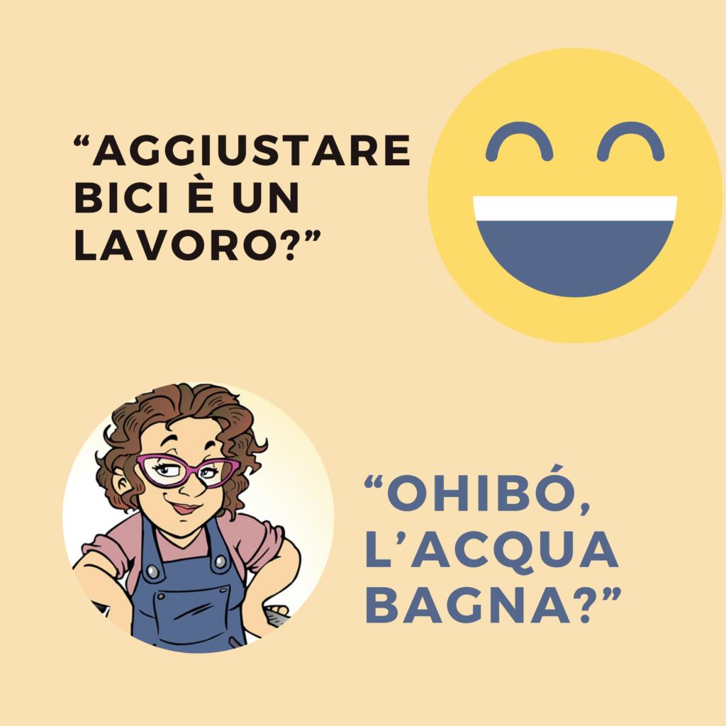 """«Una vignetta per domarli, un vignetta per trovare coraggio""""  https://www.laciclistaignorante.it/"""